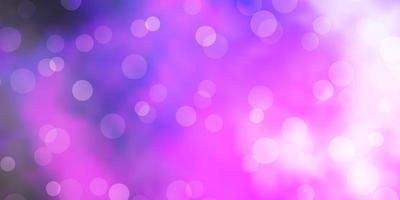 hellviolettes, rosa Vektormuster mit Kugeln.