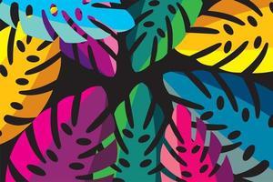 Monstera tropische Blätter Hintergrund vektor