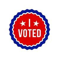 USA Abstimmungstext. Vektor-Illustration des Präsidentschaftswahltags USA-Debatte der Präsidentschaftswahl 2020. Wahlbanner-Design. politischer Flyer Vektor Wahltag