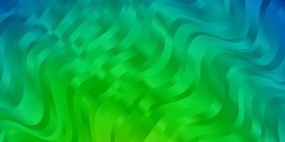 hellblaue, grüne Vektorschablone mit schiefen Linien.