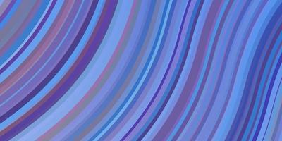 hellblauer, roter Vektorhintergrund mit gebogenen Linien. vektor