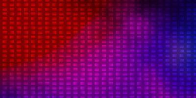 hellblaues, rotes Vektorlayout mit Linien, Rechtecken. vektor
