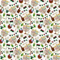 nahtloses Muster für Kwanzaa mit traditionellen Farben vektor