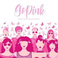 Banner Illustration des Brustkrebs-Bewusstseinsmonats