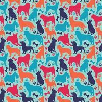 sömlösa mönster med olika hundraser vektor
