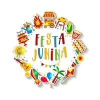 festa junina dorffest in lateinamerika vektor