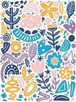 Collage-Stil Muster