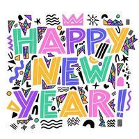 Frohes neues Jahr Banner vektor