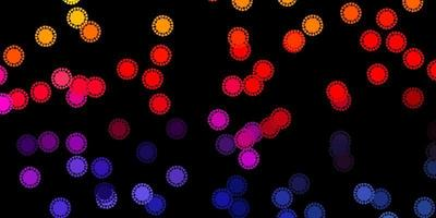 mörkrosa, gul vektormall med influensatecken
