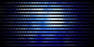 dunkelblauer Vektorhintergrund mit Punkten.