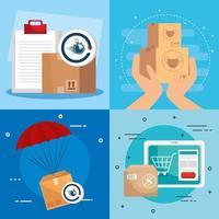 Liefer- und Logistikbannerset