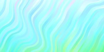 hellblauer, grüner Vektorhintergrund mit Kreisbogen. vektor
