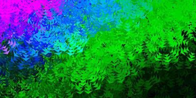 ljusblå, grön vektorbakgrund med trianglar.