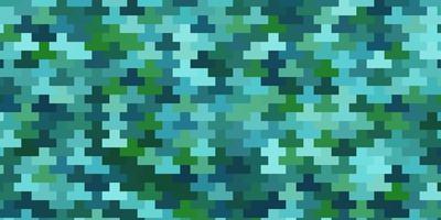hellblaue, grüne Vektorschablone in Rechtecken. vektor