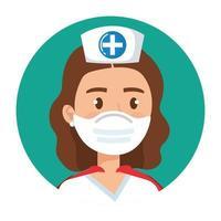 kvinnlig sjuksköterska som en superhjälte