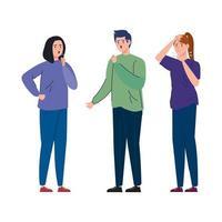 unga människor med coronavirus symptom