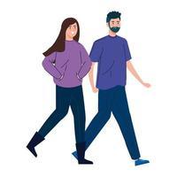 ungt par som går tillsammans