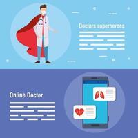 Online-Medizinplakate setzen vektor