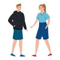 junges Paar zusammen gehen