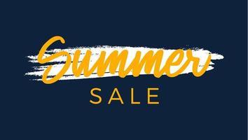 Grunge Sommer Sale Premium-Qualitätslabel. modernes Vektorillustrationsetikett für Einkaufen, E-Commerce, Produktwerbung, Aufkleber der sozialen Medien, Marketing