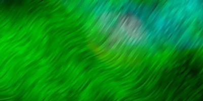 ljusblå, grön vektorbakgrund med böjda linjer.