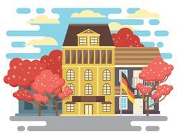 Frühjahr Bonn Deutschland Illustration