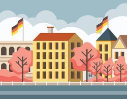 Frühjahr Bonn Deutschland Illustration vektor