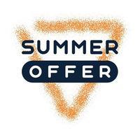Grunge Sommer bieten Premium-Qualitätslabel. modernes Vektorillustrationsetikett für Einkaufen, E-Commerce, Produktwerbung, Aufkleber der sozialen Medien, Marketing