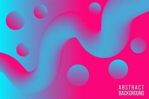 bunter blauer rosa fließender abstrakter Hintergrund vektor