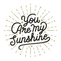 Du bist mein Sonnenschein vektor