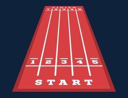 perspektiv start och mål på gokartbanan. vägmarkeringar