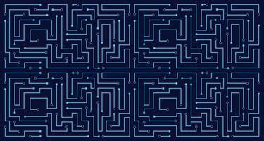 Linienschaltung abstrakte Mustertechnologie Hintergrund vektor