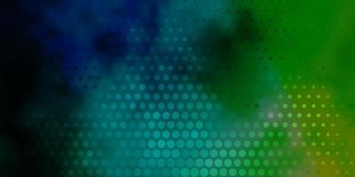 hellblauer, grüner Vektorhintergrund mit Blasen.
