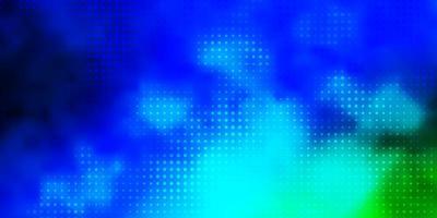hellblaue, grüne Vektorschablone mit Kreisen.