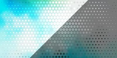 hellblaues, grünes Vektormuster mit Kreisen. vektor