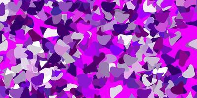 hellrosa Vektorhintergrund mit chaotischen Formen. vektor