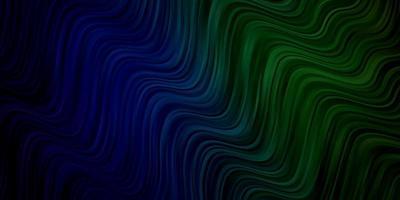 hellblaues, grünes Vektormuster mit gekrümmten Linien.