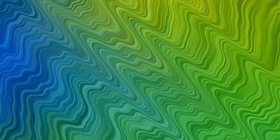 hellblaue, grüne Vektortextur mit Kreisbogen. vektor