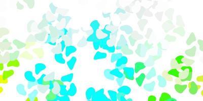 ljusblått, grönt vektormönster med abstrakta former.
