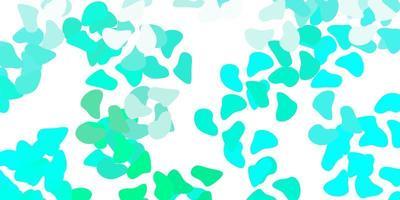 ljusgrön vektorbakgrund med slumpmässiga former.