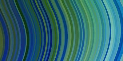 hellblaue, grüne Vektorschablone mit Kurven.