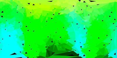 hellblaues, grünes Vektor-Polygonmuster.
