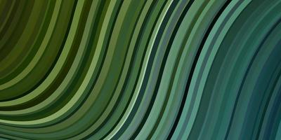 hellblaues, grünes Vektorlayout mit Kurven. vektor