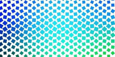 hellblaue, grüne Vektorschablone mit Rechtecken. vektor