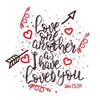 Liebe eine andere Typografie vektor