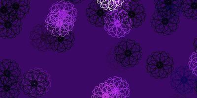 natürliche Kunst des hellvioletten Vektors mit Blumen.