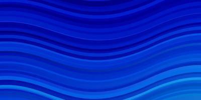ljusblå vektormall med böjda linjer. vektor