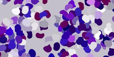 hellvioletter Vektorhintergrund mit zufälligen Formen. vektor