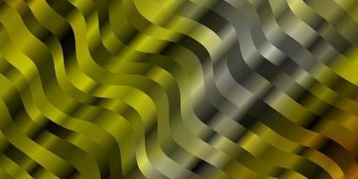 dunkelgelbe Vektortextur mit Kurven. vektor