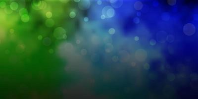 hellblaues, grünes Vektorlayout mit Kreisformen.